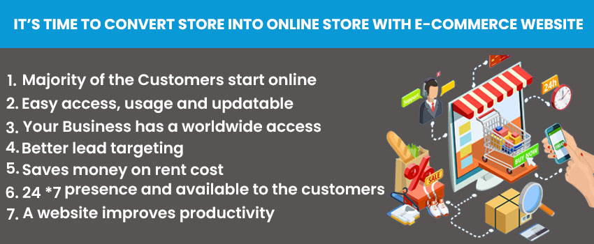 It's Time To Convert Store Into Online Store With E-commerce Website